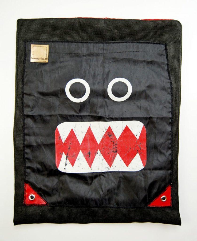 F0080MTBA torebka tkanina Obiciowa bahama pikowka ortalionowa i ortalionowy plecak Monster W Czerni formatka