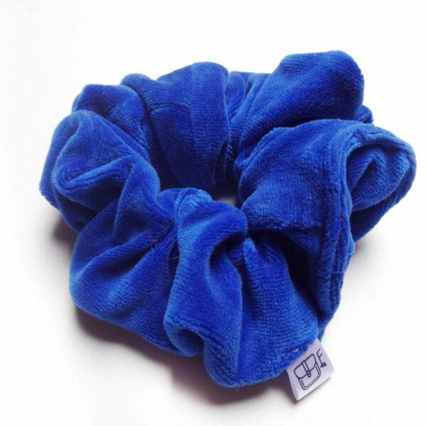 Welurowa niebieska frotka DO WŁOSÓW